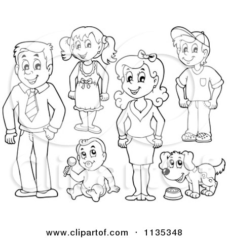 Royalty-Free (RF) Clipart Illustration of a Happy Family ...