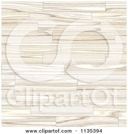 Clipart Of A Seamless Light Wood Floor Background - Royalty Free CGI Illustration by Arena Creative