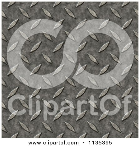 Clipart Of A Seamless Grungy Diamond Plate Metal Background - Royalty Free CGI Illustration by Arena Creative