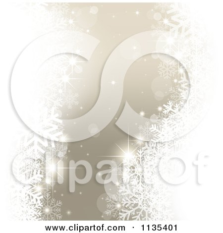 Clipart Of A Silver Magical Christmas Snowflake And Orb Background - Royalty Free Vector Illustration by dero