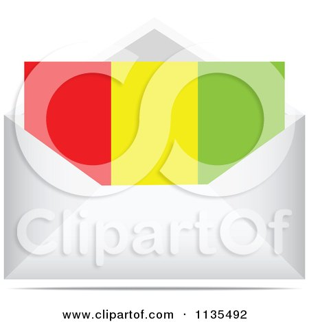 Clipart Of A Guinea Letter In An Envelope - Royalty Free Vector Illustration by Andrei Marincas