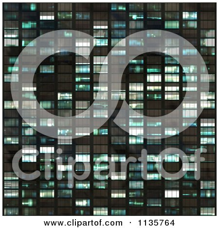 Clipart Of A Seamless Blue Skyscraper Window Texture Background Pattern Version 2 - Royalty Free CGI Illustration by Ralf61