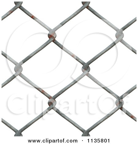 Clipart Of A Seamless Rusty Chain Link Fence Texture Background Pattern - Royalty Free CGI Illustration by Ralf61