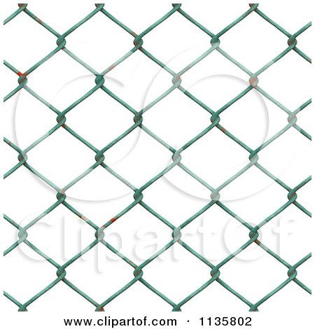Clipart Of A Seamless Rusty Chain Link Fence Texture Background Pattern Version 2 - Royalty Free CGI Illustration by Ralf61