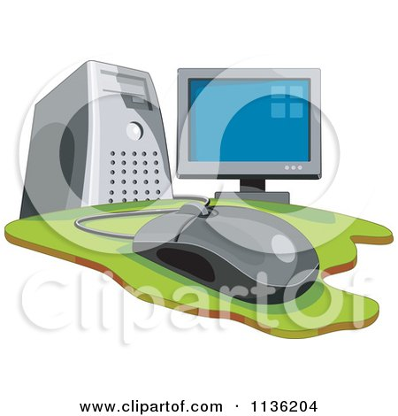 Desktop Computer And Mouse Posters, Art Prints