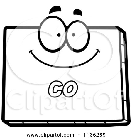 Cartoon Clipart Of An Outlined Happy Colorado State Character   Black And  White Vector Coloring Page By Cory Thoman