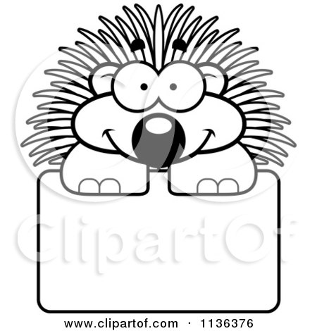 Angry Cartoon Porcupine