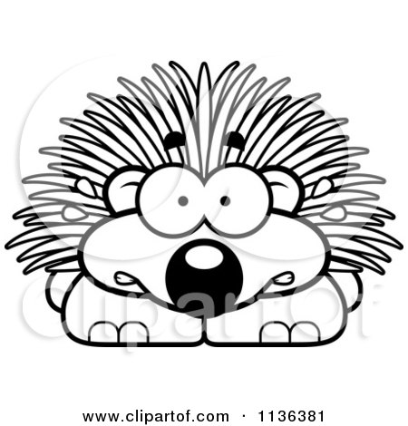 porcupine images cartoon clipart happy porcupine royalty free vector illustration 9100