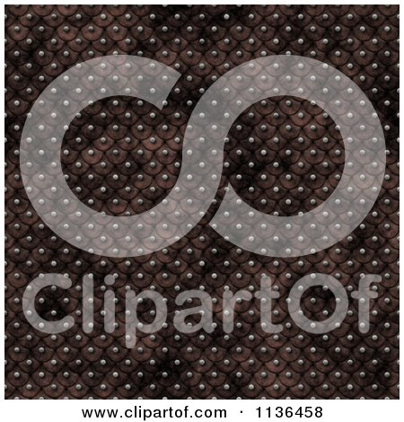 Clipart Of A Seamless Studded Skin Scales Texture Background Pattern Version 2 - Royalty Free CGI Illustration by Ralf61
