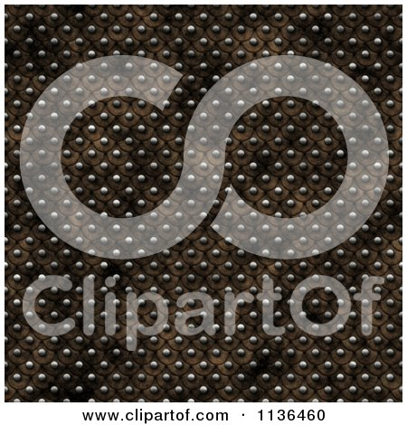Clipart Of A Seamless Studded Skin Scales Texture Background Pattern Version 4 - Royalty Free CGI Illustration by Ralf61