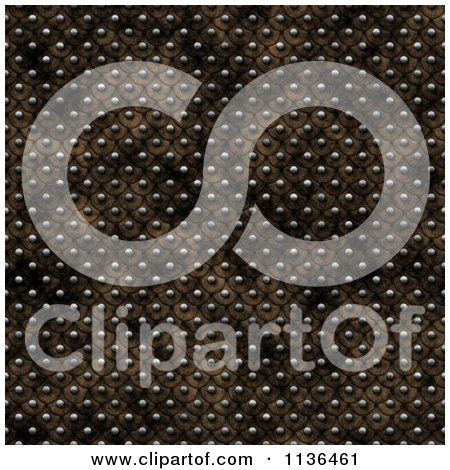 Clipart Of A Seamless Studded Skin Scales Texture Background Pattern Version 5 - Royalty Free CGI Illustration by Ralf61