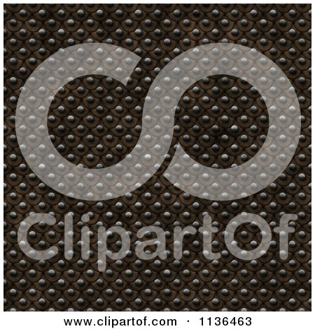 Clipart Of A Seamless Studded Skin Scales Texture Background Pattern Version 7 - Royalty Free CGI Illustration by Ralf61