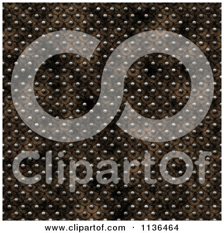 Clipart Of A Seamless Studded Skin Scales Texture Background Pattern Version 8 - Royalty Free CGI Illustration by Ralf61