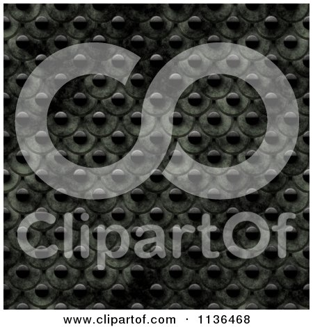 Clipart Of A Seamless Studded Skin Scales Texture Background Pattern Version 12 - Royalty Free CGI Illustration by Ralf61