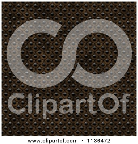 Clipart Of A Seamless Studded Skin Scales Texture Background Pattern Version 16 - Royalty Free CGI Illustration by Ralf61