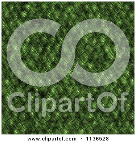 Clipart Of A Seamless Green Scales Texture Background Pattern - Royalty Free CGI Illustration by Ralf61