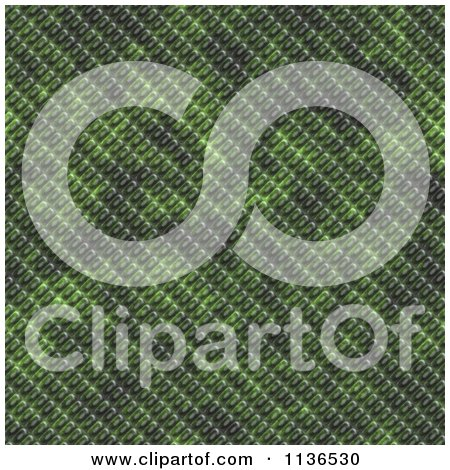 Clipart Of A Seamless Green Scales Texture Background Pattern Version 3 - Royalty Free CGI Illustration by Ralf61