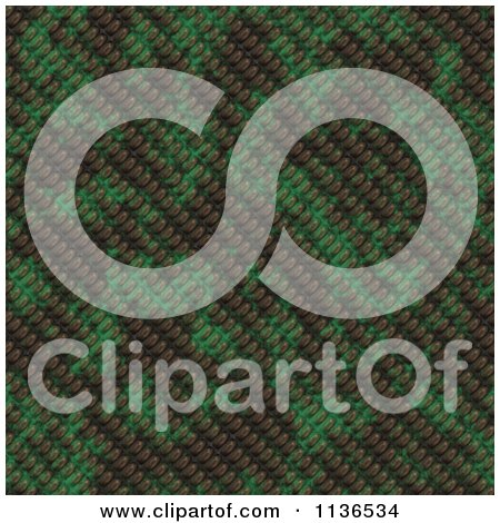 Clipart Of A Seamless Green Scales Texture Background Pattern Version 7 - Royalty Free CGI Illustration by Ralf61
