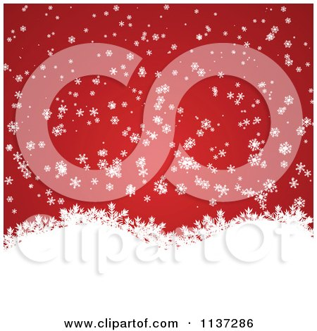 Clipart Of A Red Winter Or Christmas Snowflake Background With Copyspace 2 - Royalty Free Vector Illustration by vectorace