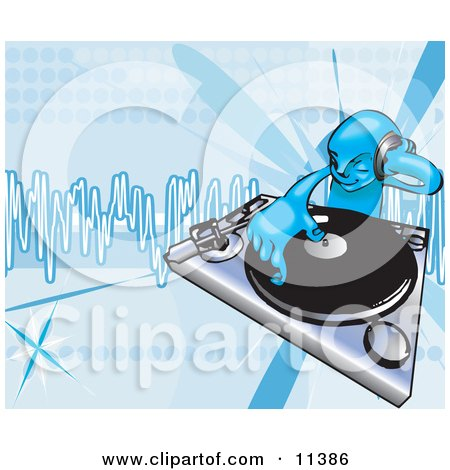 DJ Mixing Records on a Turntable Posters, Art Prints