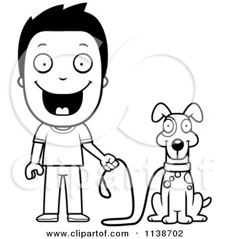 Royalty Free Rf Dog Owner Clipart Illustrations Vector