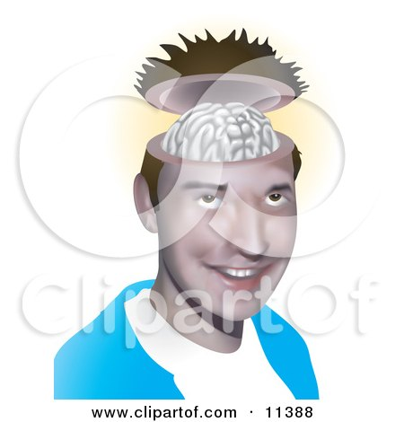 Young, Open Minded Man Clipart Illustration by AtStockIllustration