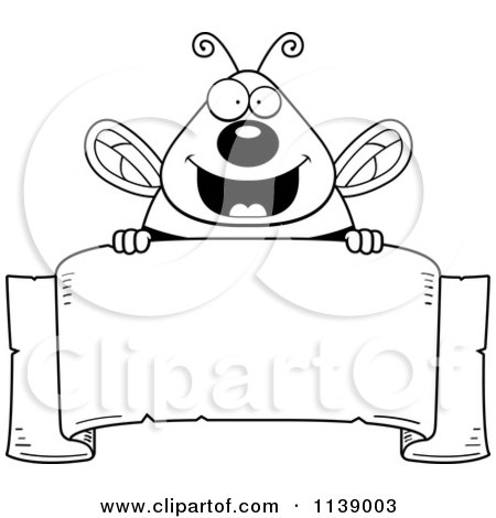 Free Bee Clipart Black And White Black And White Chubby Bee