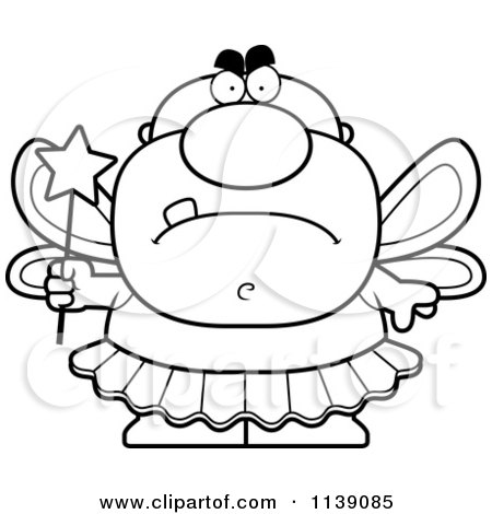 - Cartoon Clipart Of A Black And White Shocked Male Tooth Fairy - Vector  Outlined Coloring Page By Cory Thoman #1139087