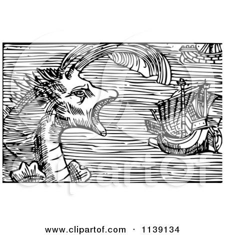 royaltyfree rf sea monster clipart illustrations