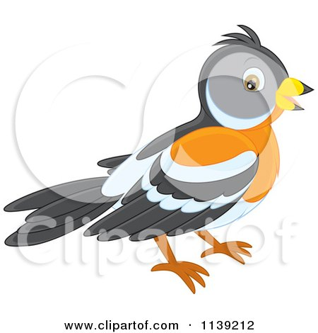 Cartoon Of A Cute Bird - Vector Clipart by Alex Bannykh