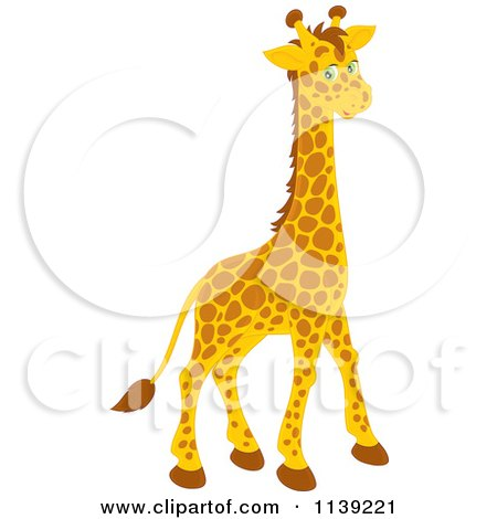 Cartoon Of A Cute Giraffe - Royalty Free Vector Clipart by Alex Bannykh