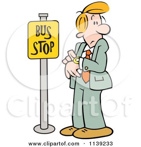 The Waiting at Bus Stop Cartoon