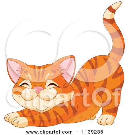 Cute Ginger Cat Stretching Posters, Art Prints