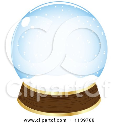 Clipart Of An Empty Snow Globe - Royalty Free Vector Illustration by Andrei Marincas