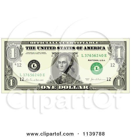 clipart of an american one dollar bill royalty free vector rh clipartof com free clipart dollar bill clipart ten dollar bill