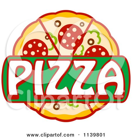 Clipart Of A Pizza Pie Logo 1 - Royalty Free Vector Illustration by Vector Tradition SM
