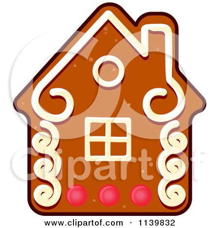 Clipart Of A House Gingerbread Christmas Cookie - Royalty Free Vector Illustration by Vector Tradition SM