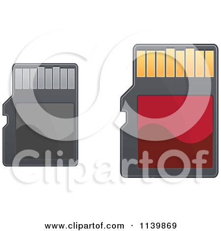 Clipart Of Sd Memory Cards - Royalty Free Vector Illustration by Vector Tradition SM