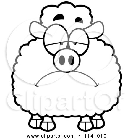 White Sad Crying Heart Vector Outlined Coloring Page By ...