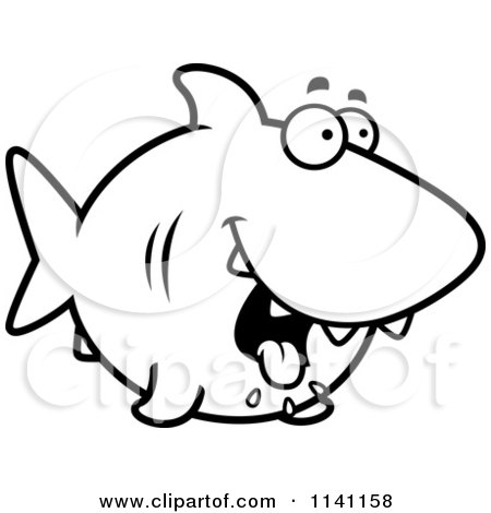 Shark Clip Art Black And White