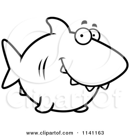 Clipart Happy Shark - Royalty Free Vector Illustration by ...