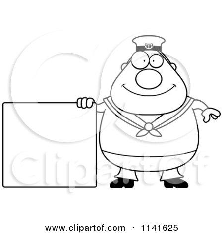 Cartoon Of A Friendly Waving Sailor - Royalty Free Vector ...