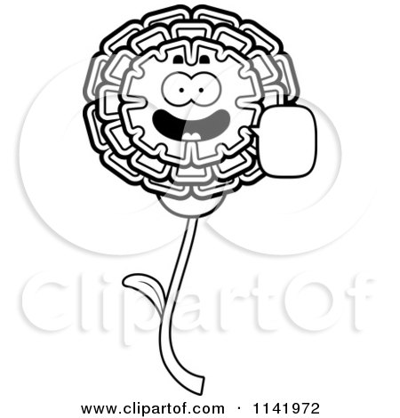 Marigold Coloring Pages Flower Page