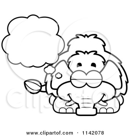 Royalty free rf clipart of dreams illustrations vector for Wooly mammoth coloring page