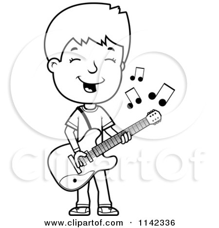 Black And White Adolescent Teenage Boy Playing A Guitar Posters Art Prints By Interior Wall Decor 1142336
