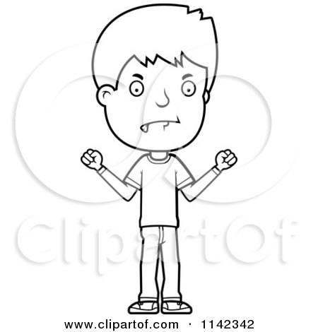Royalty Free RF Angry Boy Clipart Illustrations Vector