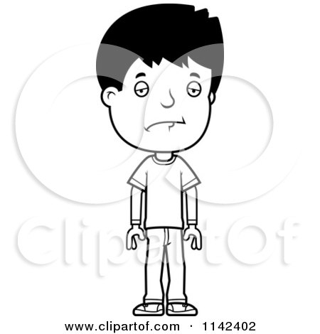 Black And White Depressed Adolescent Teenage Boy By Cory Thoman