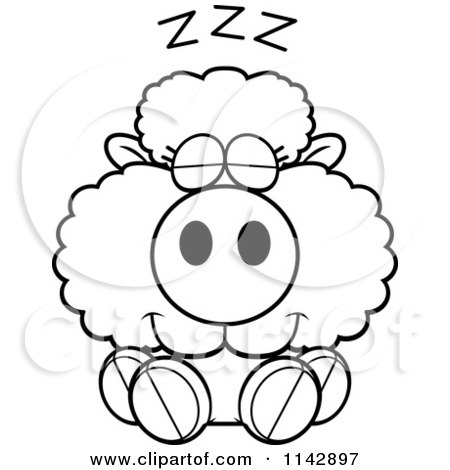 sleeping sheep coloring pages - photo#4