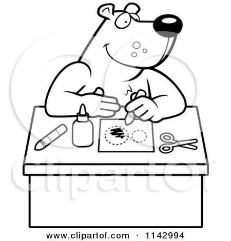 Black And White Arts Crafts Bear