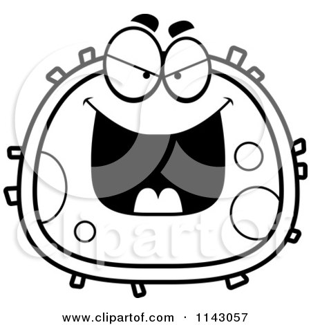 Clipart Surprised Red Blood Cell Royalty Free Vector Illustration